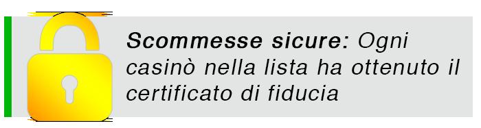 Casino Online sicuri Italy 2020